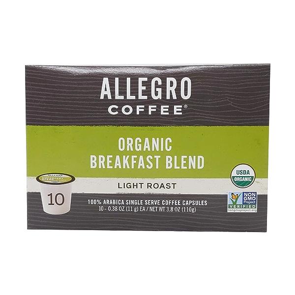 Organic Breakfast Blend Coffee Capsules, 3.8 oz 2