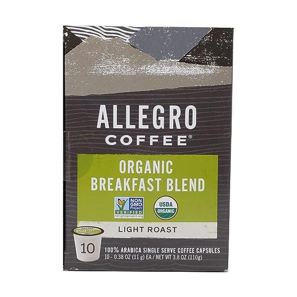 Organic Breakfast Blend Coffee Capsules, 3.8 oz 1