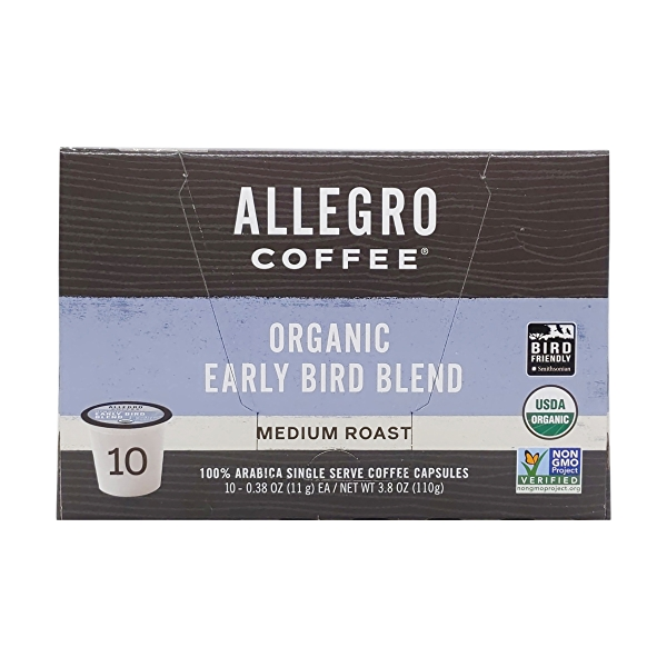 Organic Early Bird Blend Pods, 3.8 oz 4