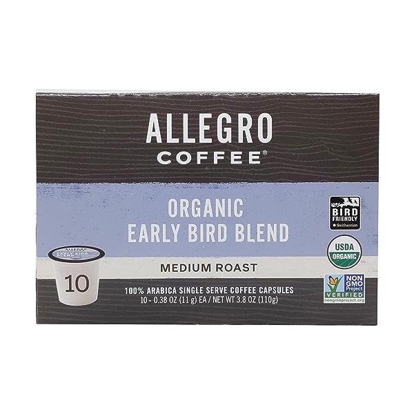 Organic Early Bird Blend Pods, 3.8 oz 2