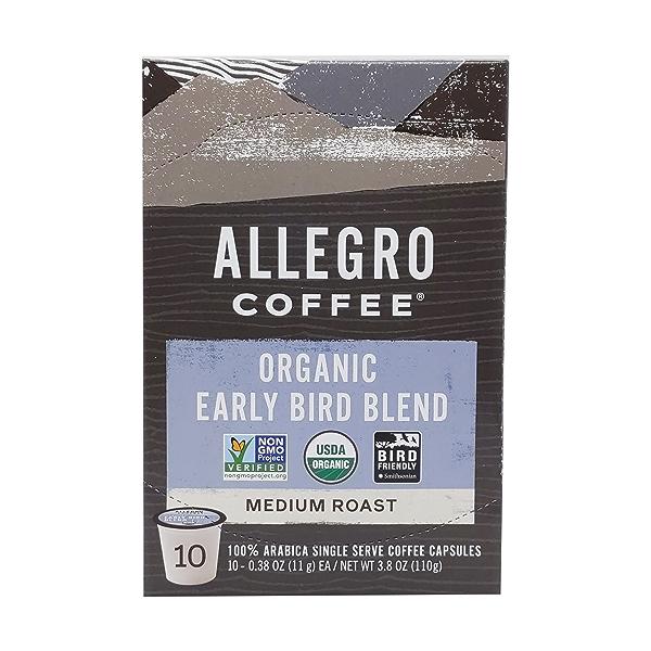 Organic Early Bird Blend Pods, 3.8 oz 1