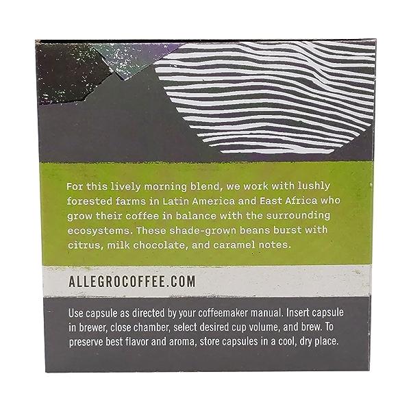 Organic Breakfast Blend Coffee Capsules, 3.8 oz 3