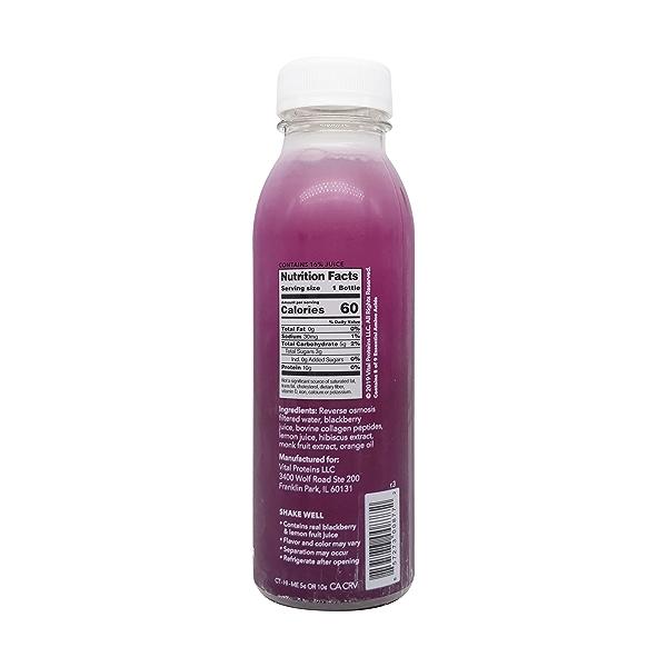 Blackberry Hibiscus Collagen Water, 12 fl oz 2