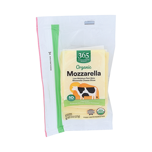 Organic Mozzarella Cheese Slices 1