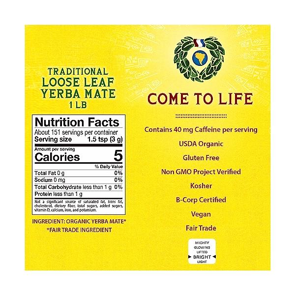 Organic Traditional Loose Leaf Yerba Mate, 16 oz 2