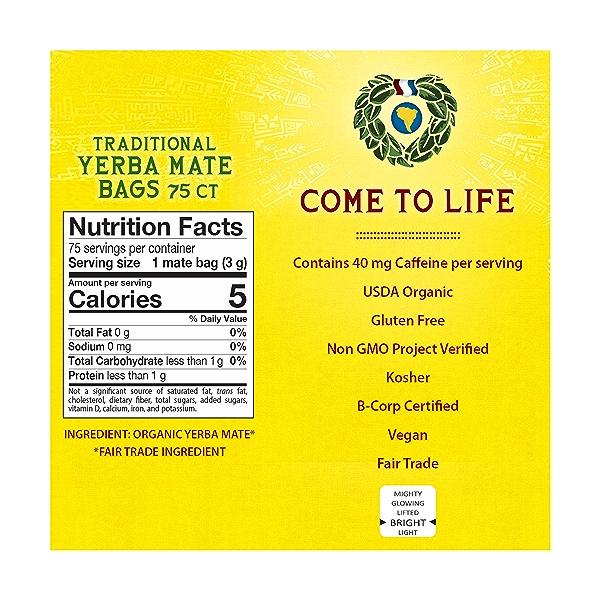 Organic Traditional Yerba Mate Bags, 7.9 oz 2