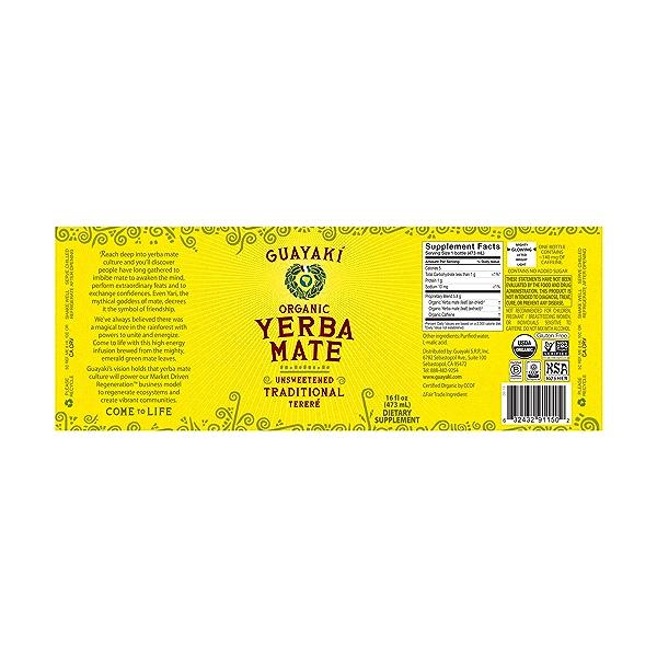 Organic Unsweetened Tereré Yerba Mate, 16 fl oz 2