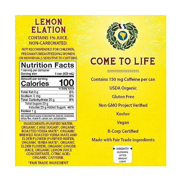 Lemon Elation Yerba Mate, 15.5 fl oz 2