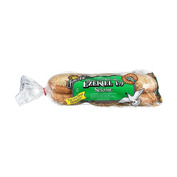 Organic Ezekiel 4:9 Sprouted Grain Sesame Burger Buns, 16 oz 1