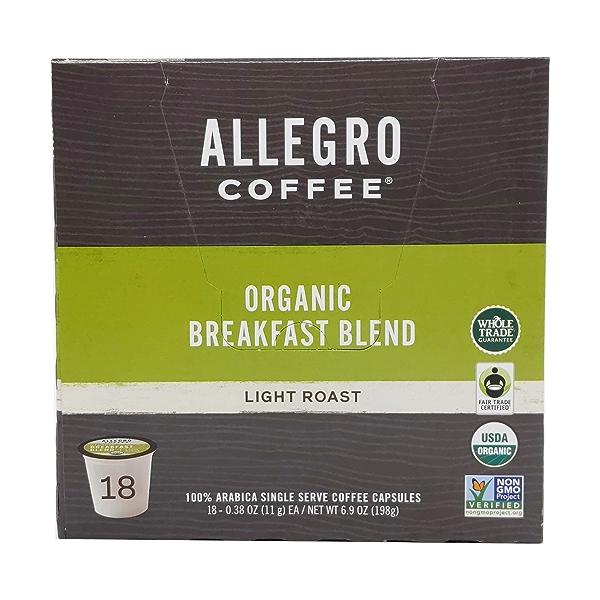 Organic Breakfast Blend Pods, 6.9 oz 1