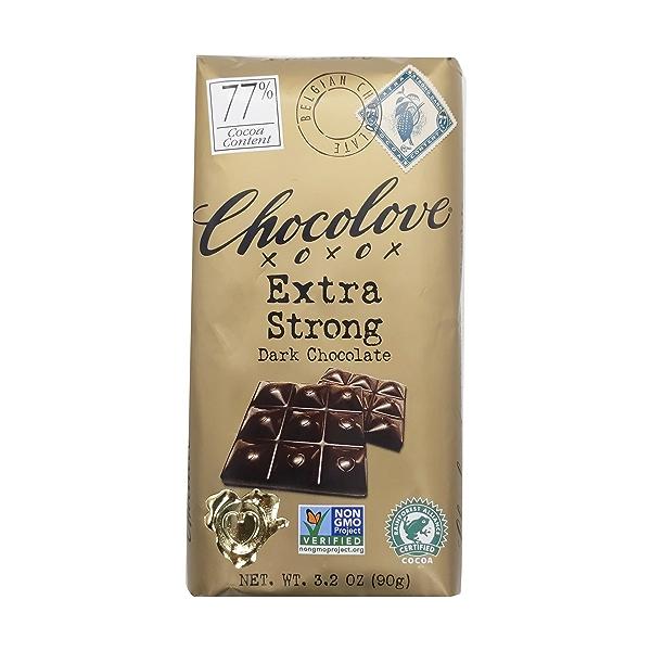 Extra Strong 77% Dark Chocolate, 3.2 oz 1