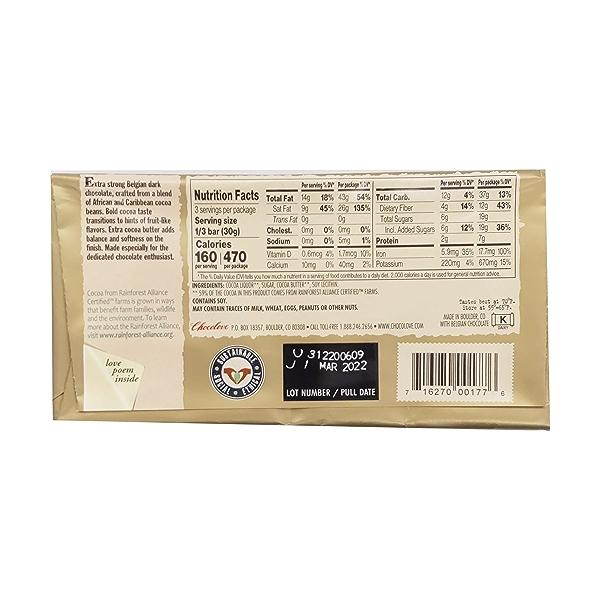 Extra Strong 77% Dark Chocolate, 3.2 oz 2