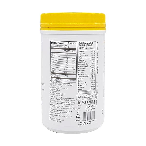 Vanilla Collagen Creamer, 10.6 oz 2