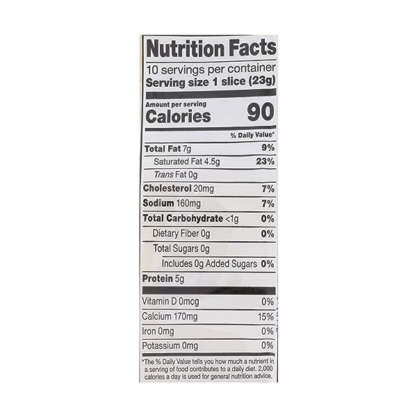 Organic Mild Cheddar Cheese Slices, 8 oz 3