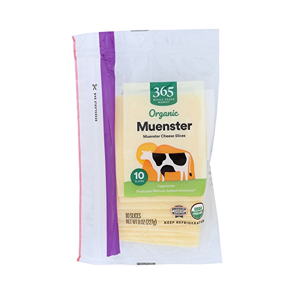 Organic Muenster Cheese Slices, 8 oz 1