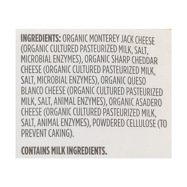 Organic Mexican Blend Cheese Shreds, 8 oz 4