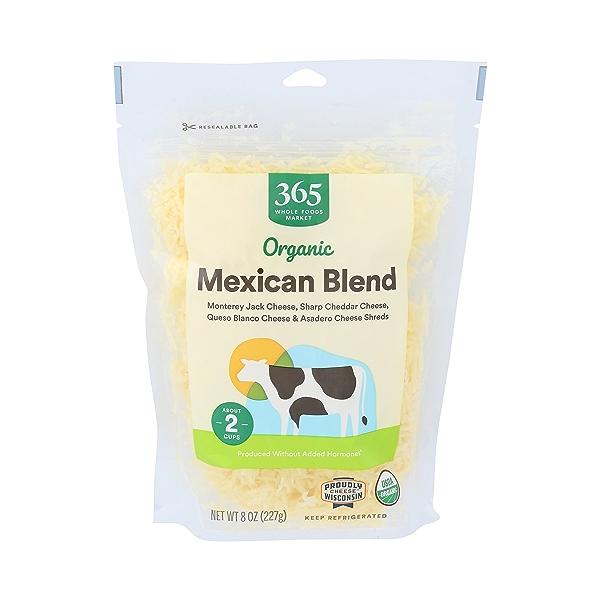 Organic Mexican Blend Cheese Shreds, 8 oz 1