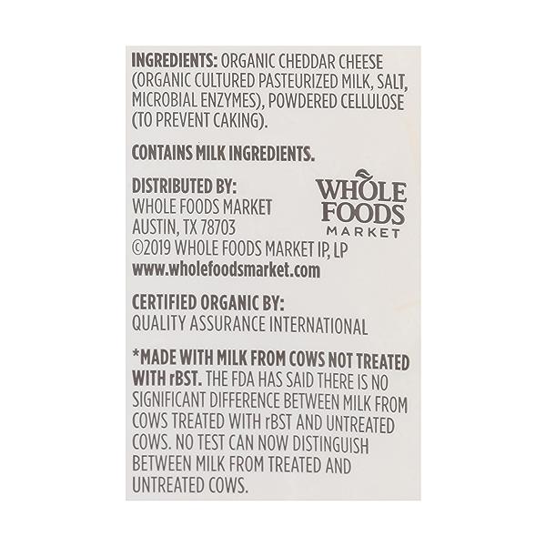 Organic Shredded Mild Cheddar Cheese, 8 oz 4