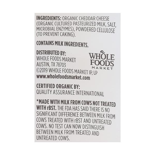 Organic Sharp Cheddar Cheese Shreds, 8 oz 4
