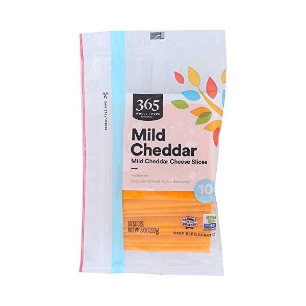 Mild Cheddar Cheese Slices, 8 oz 1