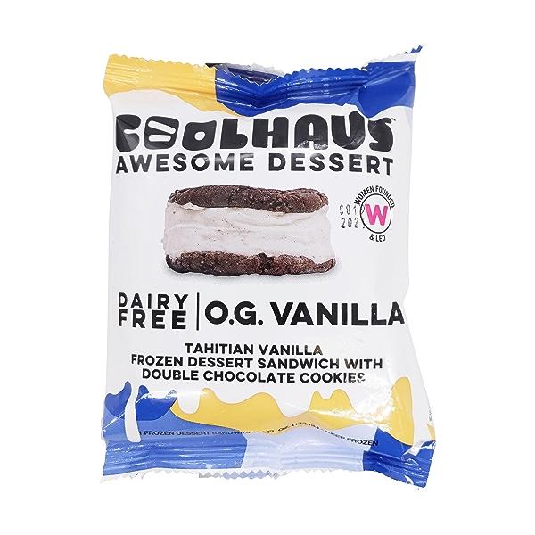 Tahitian Vanilla Frzn Dessert Sandwich W Double Choc Cookies, 5.8 fl oz 1