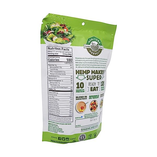 Organic Hemp Hearts, 12 oz 3