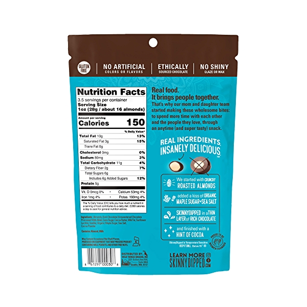 Dark Chocolate Cocoa Dipped Almonds, 3.5 oz 2