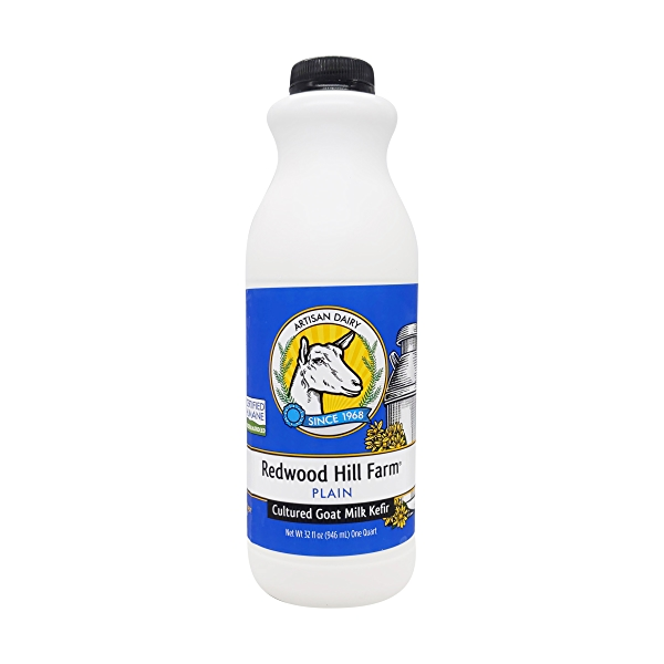 Traditional Plain Goat Milk Kefir, 32 fl oz 1