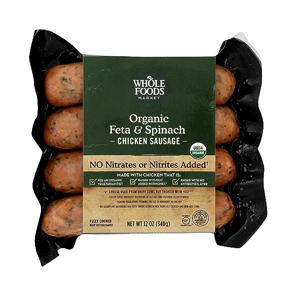 Organic Feta & Spinach Chicken Sausage 1