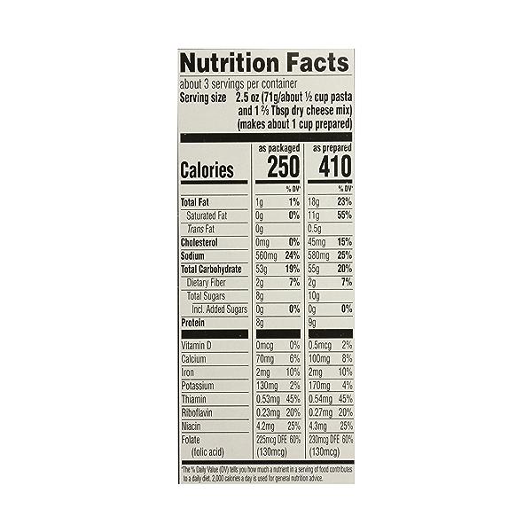 Macaroni & Cheese, 7.25 oz 8