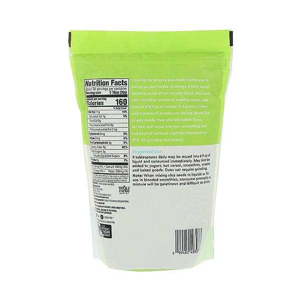 Organic Black Chia Seed, 2 lb 3