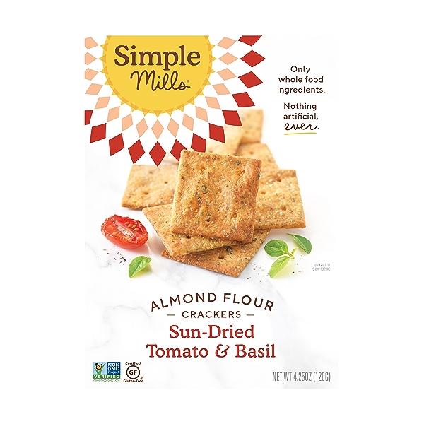 Sundried Tomato & Basil Almond Flour Crackers, 4.25 oz 1