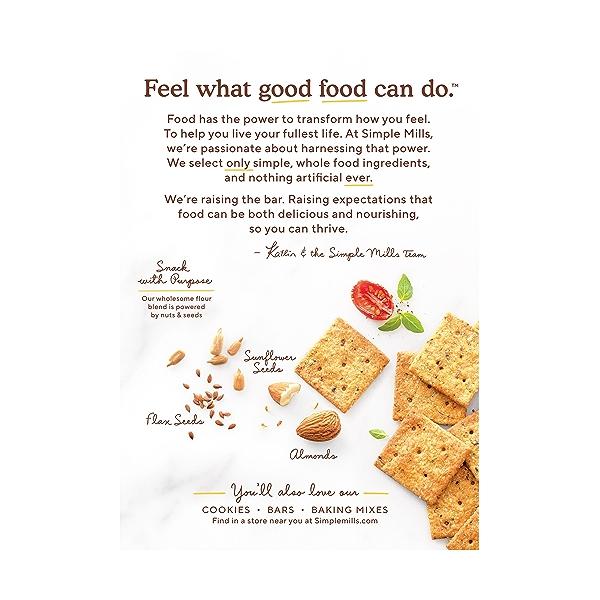 Sundried Tomato & Basil Almond Flour Crackers, 4.25 oz 3