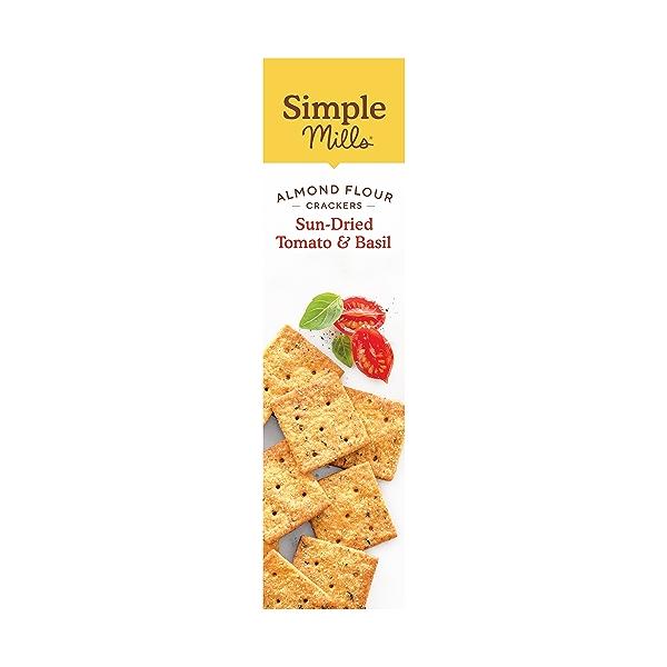 Sundried Tomato & Basil Almond Flour Crackers, 4.25 oz 4
