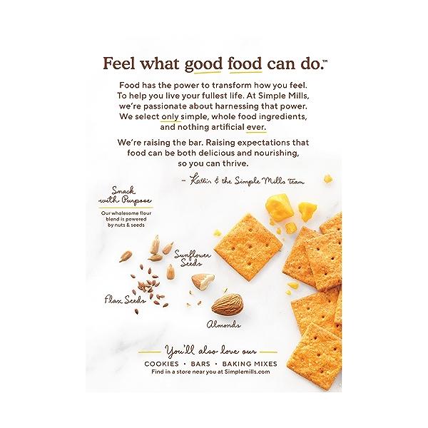 Farmhouse Cheddar Almond Flour Crackers, 4.25 oz 3