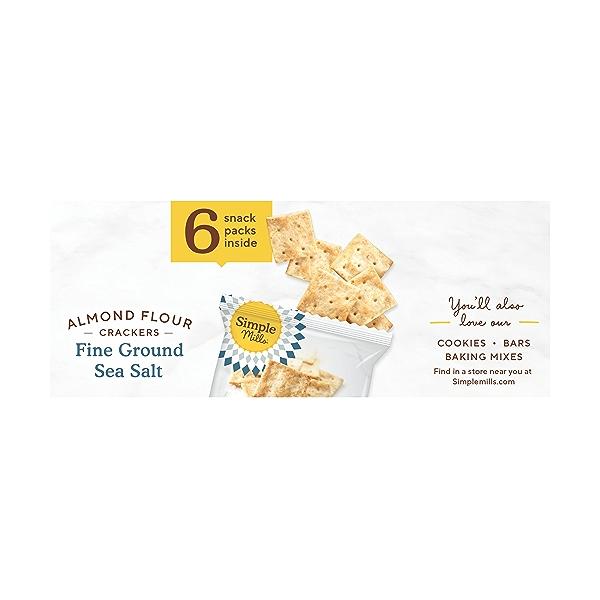Fine Ground Sea Salt Almond Flour Crackers Snack Pack 6pk, 4.9 oz 3