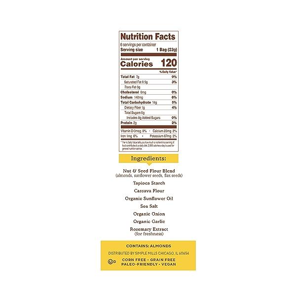 Fine Ground Sea Salt Almond Flour Crackers Snack Pack 6pk, 4.9 oz 2