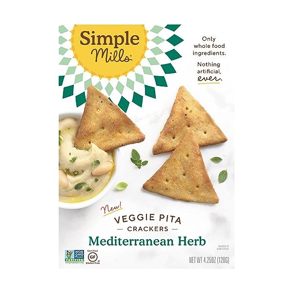 Mediterranean Herb Veggie Pita Crackers, 4.25 oz 1