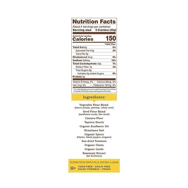 Mediterranean Herb Veggie Pita Crackers, 4.25 oz 2