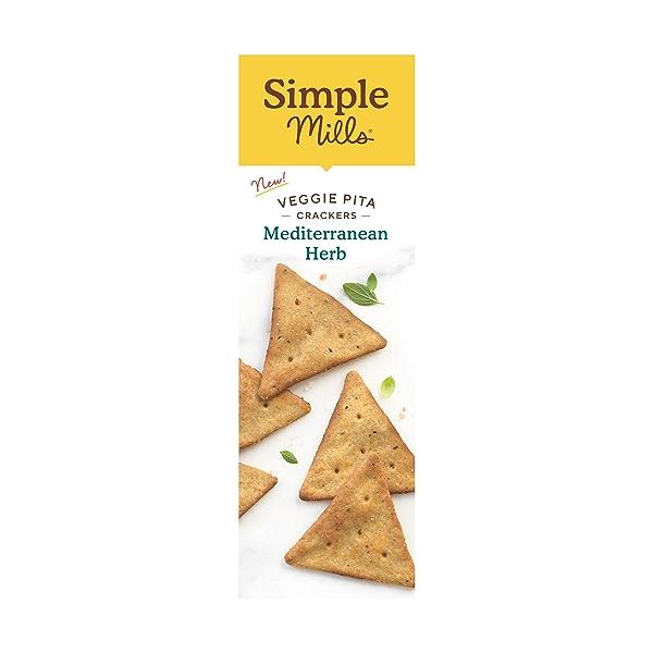 Mediterranean Herb Veggie Pita Crackers, 4.25 oz 4