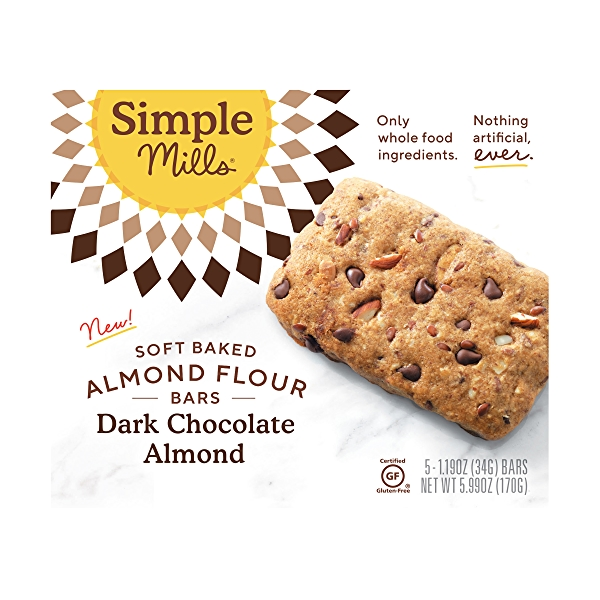 Dark Chocolate Almond Soft-baked Almond Flour Bars 5ct, 5.99 oz 1