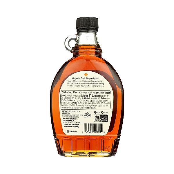 Organic Dark Maple Syrup, 12 fl oz 3