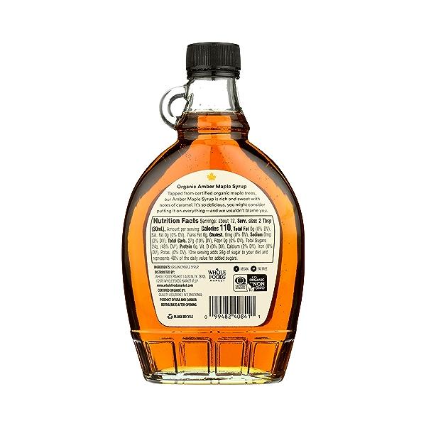 Organic Amber Maple Syrup, 12 fl oz 3