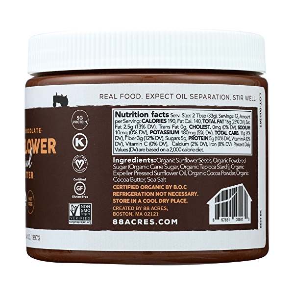 Dark Chocolate Sunflower Seed Butter Jar, 14 oz 2