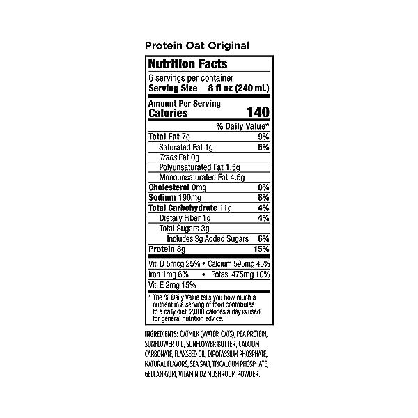 Protein Oat Original, 48 fl oz 3
