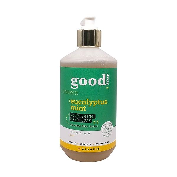 Good Soap Eucalyptus Mint Hand Soap, 12 fl oz 1