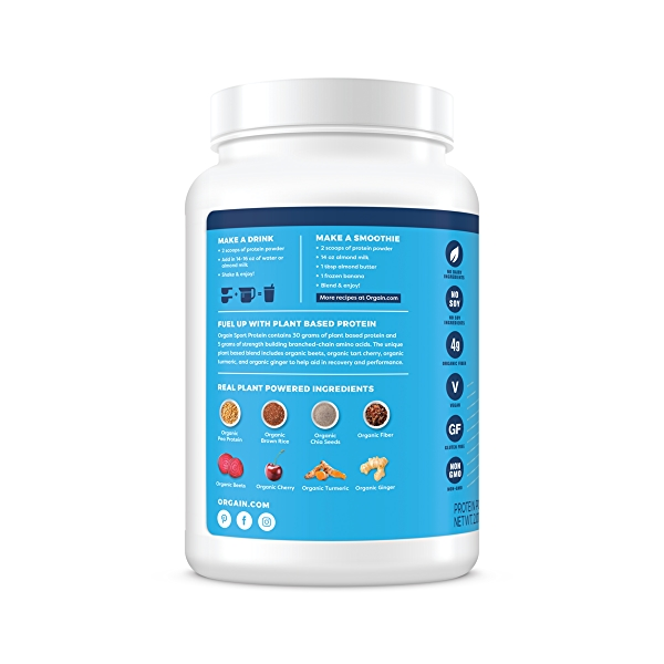 Organic Sport Protein Powder - Vanilla, 2.01 lbs 2