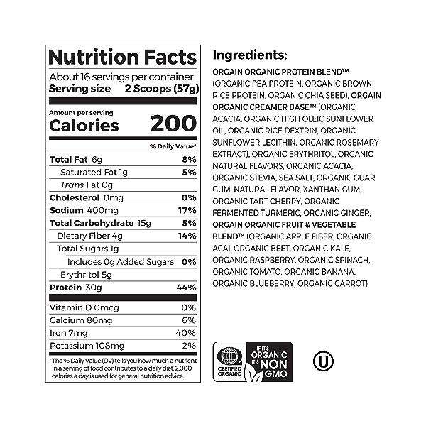 Organic Sport Protein Powder - Vanilla, 2.01 lbs 3