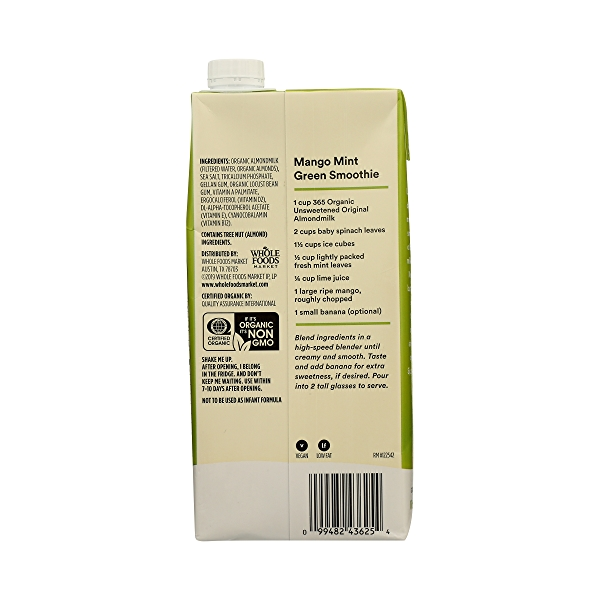 Organic Unsweetened Original Almondmilk, 32 fl oz 4