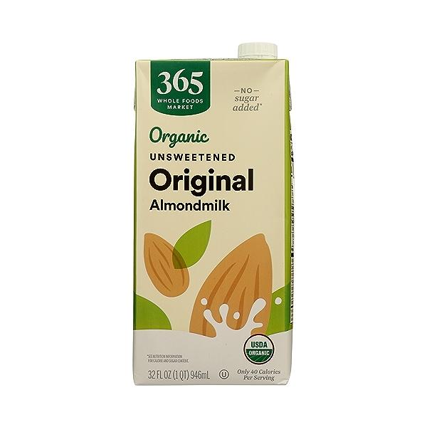 Organic Unsweetened Original Almondmilk, 32 fl oz 1